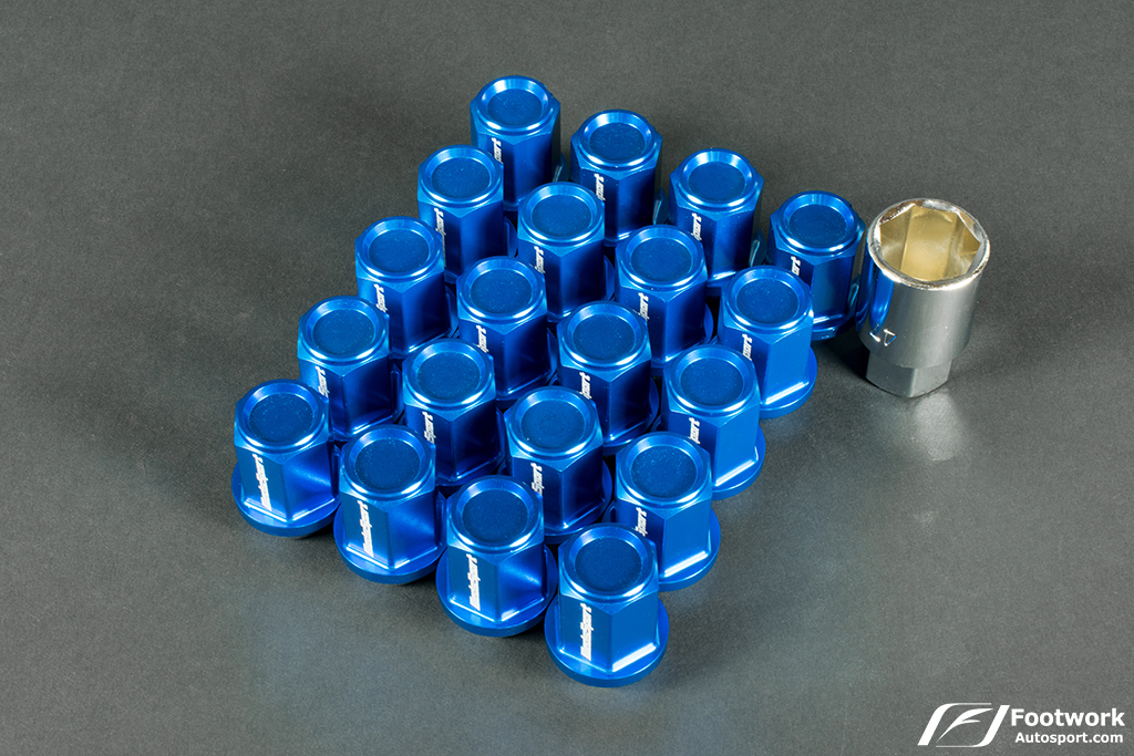 WedsSport Forged Aluminum Lug Nuts   (M12 X 1.50 - Close End Type) Blue