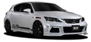 Blitz Aero Speed  Front Bumper Day Light Set FRP -  Lexus CT200H 2011 - 2014