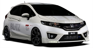 Blitz Aero Speed Front Lip Spoiler FRP - Honda Fit 2014 - 2020