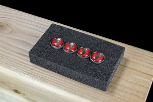 Super Star Accessories - 14mm Roulette Air Valve Cap Set Red