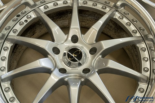 Authentic Ganador Forged Super Light 3 Piece Type Wheel Set