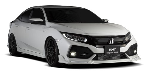 Blitz Aero Speed Front Lip Spoiler FRP - Honda Civic FK7 2015+
